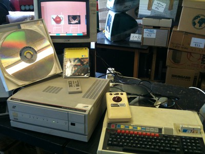 The BBC Domesday system  - Phillips Laservision LV-ROM player, BBC Master, trackball
