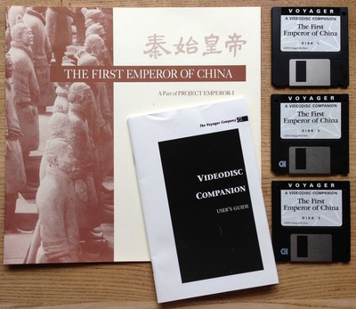 The First Emperor of China - booklet and disks