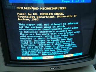 Children and Microcomputers